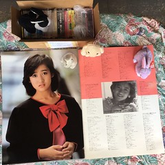 Yukiko Okada: 31 years gone (shiroibasketshoes hopper) Tags: japan tokyo singer idol actress japanese jpop cute pretty nice talent talented photo shashinshuu bunnies rabbits memorial tribute suicide death tragedy tragic girl people magazine music albums cds