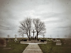 the road to calvary... (HSS) (BillsExplorations) Tags: calvary cemetery graveyard monument faith religion rural arlington illinois country countrycemetery small old historic hss sliderssunday