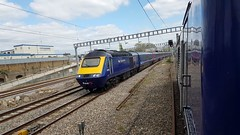 "First Great Western 43155 ""The Red Arrows"" (with 43186). 1C18 1430 London Paddington - Weston-super-Mare. Ladborke Grove. 13th April 2017 (Ajax46.) Tags: firstgreatwestern 43155 ladbrokegrove theredarrows50seasonsofexcellence 43186trailing 1c181430londonpaddingtontowestonsupermare 13thapril2017"