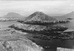 Coastal landscape, ca. 1915-1920 (Fylkesarkivet i Sogn og Fjordane) Tags: førde sognogfjordane norge n norway noreg sunnfjord olaifauske landscape lighthouse ocean island coastallandscape