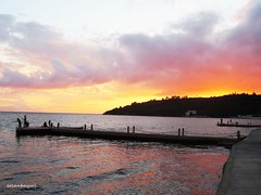 Sunset in Özdere (B A Y S A L) Tags: turkey turkiye izmir menderes özdere sunset village seaside ege aegean beach ercanbaysal panorama camera tourism sea archaeology red fish fisherman summerhouse holiday