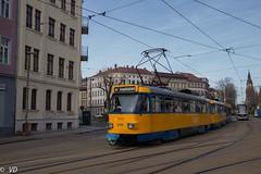 Tatra T4D der Leipziger Verkehrsbetriebe (Vitalis Fotopage) Tags: leipzig sachsen deutschland leipziger verkehrsbetriebe tatra t4d strassenbahn tram public transport
