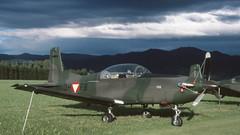 Midsummer Pilatus (ƒliçkrwåy) Tags: 3hfb pilatus pc7 aviation aircraft military austria austrian airforce zeltweg kodachrome