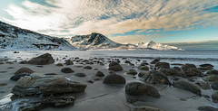 arctic sea (anthony.vairos) Tags: nikon d750 irix 15mm f24 fullframe pleinformat manfrotto lightroom photoshop dslr photo photography photographie landscape paysage stone sea ocean norway scandinavie tromso travel vacation cold snow arctic beautiful beach