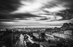Thessaloniki from above (KostasTsiaousis) Tags: thessaloniki blackandwhite long exposure sony a7 low key macedoniagreece makedonia timeless macedonian μακεδονια