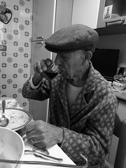 Old pleasure (Lorenzo Bl) Tags: lorenzo blangiardi ly lydser ragusa cat gatto pet animal cats christmas winter drink granfather old man wine sicily sicilian blackwhite