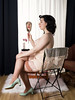 Holly x Gigi #7 (Bruce M Walker) Tags: vintagelingerie vintage woman mirror chair reflection face nylons garters boudoir pinup