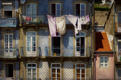 smell the sunshine (silviaON) Tags: portugal city porto caminhoportugues facades laundry sunshine textured distressedtexture