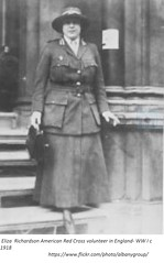 Eliza Richardson Albany NY  Red Cross Worker in England during World War I  c. 1918 (albany group archive) Tags: early 1900s