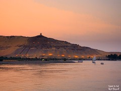 Qubbet el-Hawa, Tombs of the Nobles at Sunset Aswan Egypt (Travel to Eat) Tags: colorful nile egypt aswan sunset