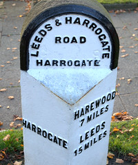 Harrogate Milestone (Tony Worrall) Tags: north country place visit area county attraction open stream tour capture outside outdoors caught photo shoot shot picture captured yorkshire yorks scene scenery england northern uk update location welovethenorth harrogate town mile milestone