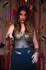 PH: Tony Aciar (camilabelenlagos) Tags: creepy circus tarot girl designer clothes drees sparks gipsy gitana tarotista flowers skull transparencia artistic art music oomph