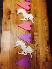 Wooden Unicorn Sparkly bunting