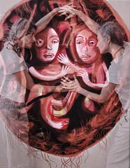 F8676 ~ In the intimacy of the womb... (Teresa Teixeira) Tags: cristinavaladas painting teresateixeira portrait exhibit concept