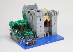 Waelras Castle - Main (Sir Gillian) Tags: lego castle river medieval