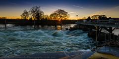 Controlling the flow flow (Stuart Feurtado) Tags: river thames water weir evening hambleden movement outdoor flow daytime riverthames thamesvalley long hambledenmill le berks berkshire torrent
