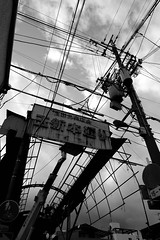 The arcade which is dismantled (sakemoge) Tags: 玉出 商店街 アーケード 昭和 arcade tamade shopping street sky people japan osaka 大阪 日本