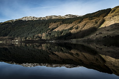 On the Banks of Loch Eck 1 - March 2017 (GOR44Photographic@Gmail.com) Tags: scotland loch eck fujifilm xpro1 xf18mmf2 gor44 argyll cowal water hills trees reflection