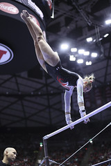gymnastics012 (Ayers Photo) Tags: sports canon utahutes utah utes red redrocks gymnastics barefoot bare foot feet toes toe barefeet woman women