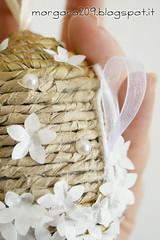 OvetteShabby_16w (Morgana209) Tags: ovetti uova decorazione shabby easter pasqua riciclo cartadapacco sacchettodelpane fiorellini perline fattoamano handmade diy creatività riciclocreativo recupero