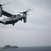 an MV-22B Osprey lands aboard USS Bataan.