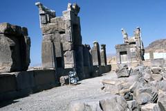 Found Photo - Iran - Persepolis - Archeological Site 07.tif (David Pirmann) Tags: iran ruins archeology persia persian unesco worldheritage xerxes parsa takhtejamshid achaemenid dpfoundphotoasia1976 persepolis
