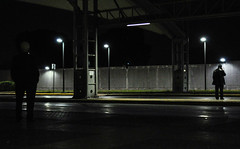 They stay the same (elenista1) Tags: men metro outside outdoors streetphotography nightshot nikond90 nikon standing waiting ngc urban nightlife metrostation night
