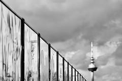 Mannheim (rainerneumann831) Tags: mannheim fernsehturm brücke himmel blackwhite geländer linien minimalistisch
