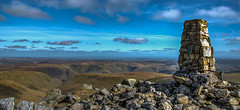 View from the Summit of Aran Fawddwy, Wales (christaff1010) Tags: aranfawddwy wales view d750 landscape britain snowdonia clouds sunlight mountains sky green hills sun uk valley rhydymain unitedkingdom gb