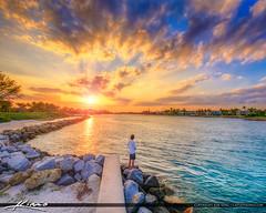 Jupiter Inlet Sunset Fishing in Jupiter Florida (Captain Kimo) Tags: captainkimo florida hdrphotography jupiter jupiterbeachpark jupiterinlet jupiterlighthouse photomatix sunset waterway