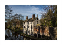 Sacha House (Explore 01/04/17 #34) (andyrousephotography) Tags: worsley bridgewatercanal canal sachahouse whitewashed building architecture historic village morning sunlight shadows trees andyrouse canon eos 5d 5d3 mkiii