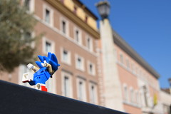 Rooftop Runnin' (AyliffeMakit) Tags: lego legos photos photo photograph photography photographs scale location locations irl toy sonic hedgehog fast spagonia rome videogame sega