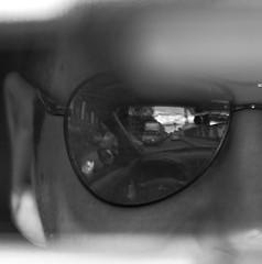 reflection of reality (АндрейНовиков1) Tags: reflection life street men face eye window whiteandblack canon eos 5d mark ii ef70200mm f28l usm road driver