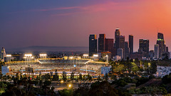Dodger Stadium (mrsyclone) Tags: dodger stadium la hollywood usa nigth long world los angeles baseball epic arena sunset sunrise skyline city downedown leica downtown lax california outdorr urban night glow exposure griffith park observatory superbmasterpiece excellent photographer awards life~as i see it excellence soe passion photography passionphotography