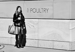 Poultry In Motion (jaykay72(Away For A While)) Tags: london uk street candid streetphotography londonist poultry stphotographia blackandwhite bw