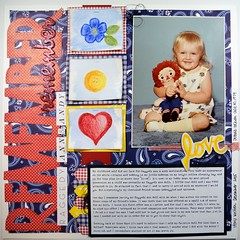 Remember Remember Raggedy Ann & Andy (girl231t) Tags: 2015 paper scrapbook layout 12x12layout