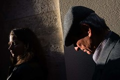 . (Joanna Mrowka) Tags: sicily trapani procession people streetphotography travelphotography travel street man woman life shadow