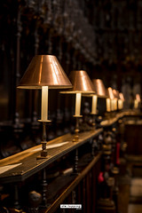 Manchester Cathedral (stetoppingphoto) Tags: manchester cathedral church place worship religion god jesus holy bible lighting lamps shade brass woodwork