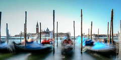 Floating (Michaela Loheit) Tags: floating gondola venice water blue venedig italy boat