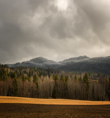 Sørkedalen (eriknst) Tags: oslo forest sørkedalen clouds landscape mountains hills spring sky pano nikon d810 80200mm f28 f16 april testing practicing drama