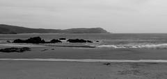 silent afternoon (__CrisS__) Tags: beach seascape landscape sand water sea bw bn costadamorte galicia spain