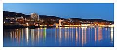Sassnitz city lights (Norbert Kaiser) Tags: nacht nightearth earthnight blauestunde atnight stadthafen sassnitz inselrügen ostsee spiegelung