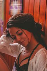 Ale (Audentis fortuna iuvat.) Tags: girl boudoir chile canon canonchile chilean cute colors house 50mm bralette beauty sensual portrait