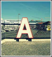 A is for Antwerp at the Liefdesmuur (Wagsy Wheeler) Tags: antwerp antwerpen belgium a locks lock sign fence sky cobbles lovelocks lovelock heart liefdesmuur wall lovewall letter padlock padlocks