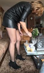 MyLeggyLady (RJT61) Tags: boots stilettos holdups stockings minidress leather legs heels