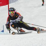 Marie-Pier Prefontaine second run gs leading to winning the Canadian GS Championships                PHOTO CREDIT: Gordon Kwong