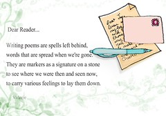 A letter to my dear readers (Val-Pegs) Tags: pen word words poem note letter dearreader