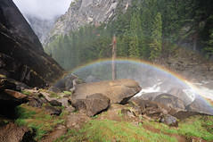 Waterfall bow (J-Fish) Tags: california nationalpark rainbow unescoworldheritagesite unesco yosemite yosemitenationalpark 230 doublerainbow 178 mercedriver 182 176 sigma1020mm misttrail 1020mmf456exdchsm d300s