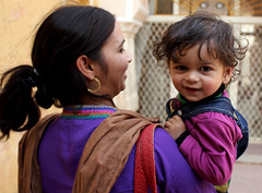 Young Mother and Son at Amer Fort (cowyeow) Tags: travel boy portrait india cute smile composition mom asian happy women asia child fort indian young mother smiles palace littleboy jaipur rajasthan amer amberfort amerfort amberpalace indianwoman amerpalace