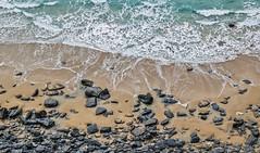 Coastal Shapes ~ Explore (intrazome) Tags: ocean sea england beach nature water composition landscape coast nikon rocks cornwall waves aerial coastline sigma1770 d5100